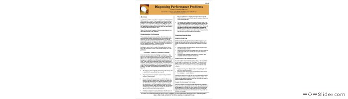 How can you fix performance problems if you don't know the cause?