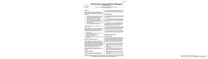 Overview of the Performance Management Process For Managers & Supervisors