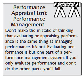 Performance Appraisal Isn't Performance Management