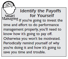 Identify Performance Management Payoffs For Yourself