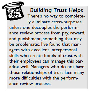 Trust building works to overcome many employee review barriers