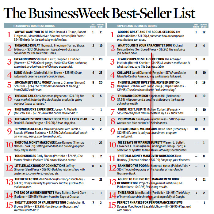 businessweek best seller list